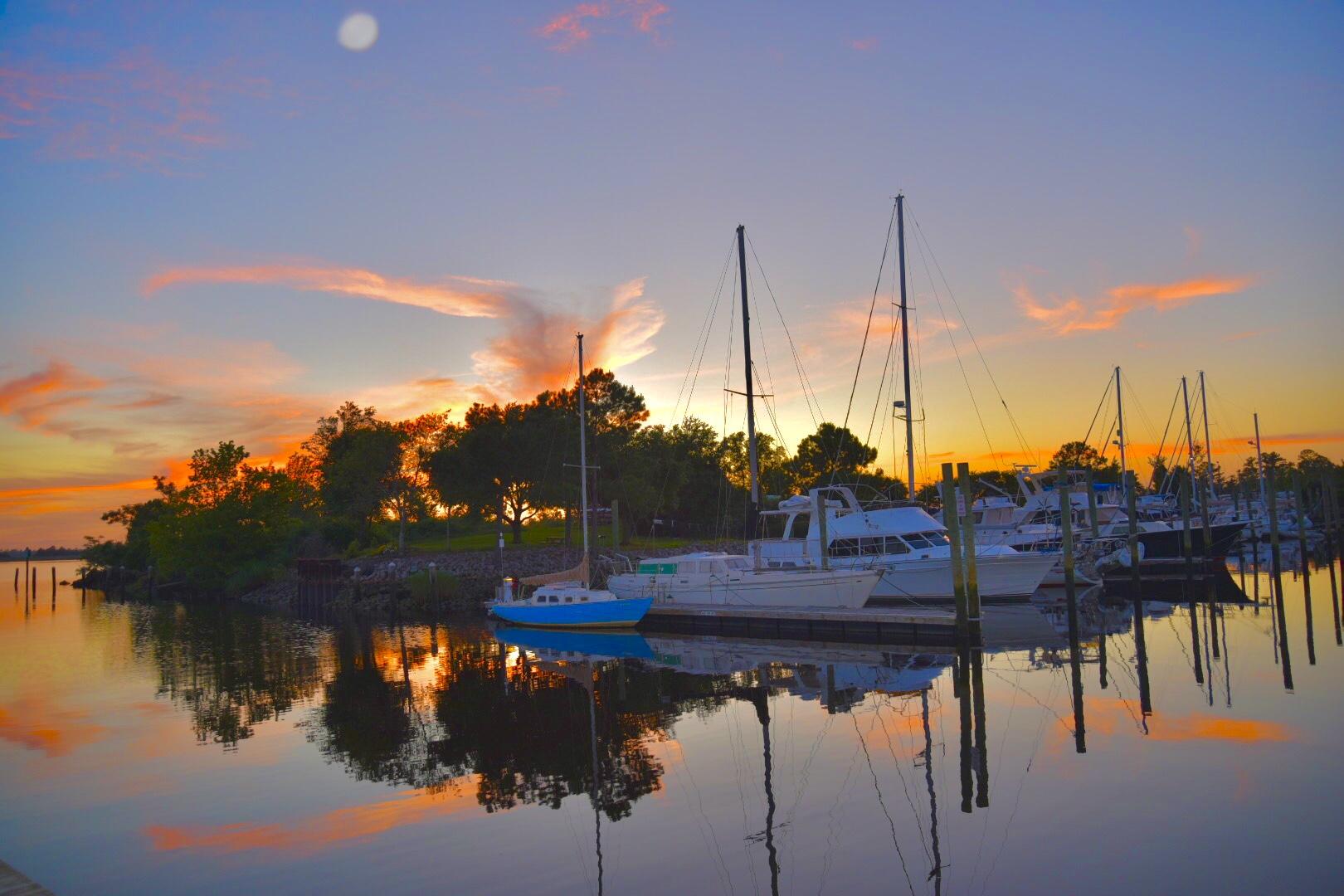 Sunset at Wilmington Marine