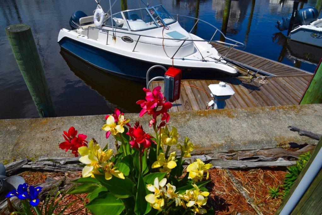 wilmington marine boat dock view